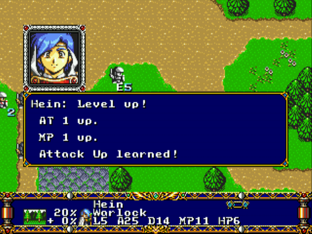 Langrisser II (english translation) - Level 1 - Level up! - User Screenshot